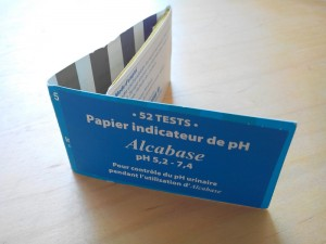 Comment tester son acidite urinaire - papier PH