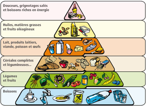 Pyramide alimentaire végétarienne végétalienne en français
